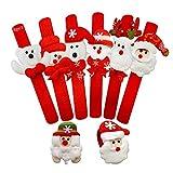 TDCQ 8pcs Weihnachten Snap Armbänder,Weihnachten Schnapparmbänder,Slap Armbänder Set,Slap Band,Slap Armbänder,Slap Armband Kinder