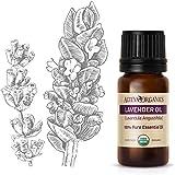 Alteya Bio Lavendelöl (Echter Lavendel) 10ml – 100% USDA Organic-zertifiziert Rein Natürlich Ätherisches Lavendelöl, Direktverkauf vom Lavendelanbauer und Destillateur Alteya Organics