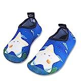 HMIYA Kinder Badeschuhe Wasserschuhe Strandschuhe Schwimmschuhe Aquaschuhe Surfschuhe Barfuss Schuh für Jungen Mädchen Kleinkind Beach Pool(Blau 24 25)