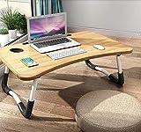 Laptoptisch Lapdesk Betttisch Laptophalterung, Notebooktisch klappbarer Lapdesk, Faltbare Betttisch für Lesen, Betttablett für den Schreibtisch oder als Frühstückstablett für Bett und Sofa(60 x 40 cm)
