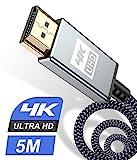 HDMI Kabel 5Meter 4K,Sweguard Highspeed 60hz 18Gbps HDMI 2.0 auf HDMI mit hernet/Audio Rückkanal,Kompatibel Mit UHD 2160p, 3D, HD 1080p, HDR, HDCP 2.2 ARC, Ethernet, PS4, Xbox, HDTV,Monitor-Grau