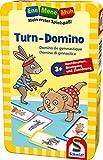 Schmidt Spiele 51425 Ene Mene MUH, Turn-Domino, Bring Mich mit Spiel in der Metalldose, bunt