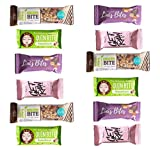 Nussriegel Mix | 100 % BIO Qualität | 12er Riegel mit HEJ Bar Chocolate Nuts | Linis Bites Salted Caramel Peanuts | GET RAW Himbeer Mandel und Quin Bite Hazelnut - gemischte Snack Box