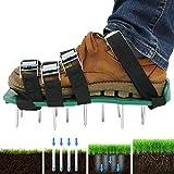 harupink Rasenbelüfter Rasenlüfter Schuhe,Rasen Nagelschuhe mit Verstellbare Gurte und Metal,Rasen Nagelschuhe für Dein Rasen oder Hof