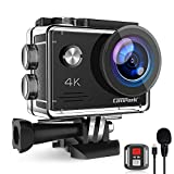 Campark Action Cam 4K 20MP WiFi Unterwasserkamera mit EIS Fernbedienung Externem Mikrofon Webcam wasserdichte 40M Helmkamera Kompatibel mit GoPro