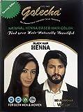 5x10g Golecha Natural Henna Based Hair Color, No Ammonia - BLACK (Natürliche Herbal Haarfarbe - Schwarz)