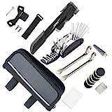 AUERVO Fahrrad Reparatur Werkzeug Set, Multitool Fahrrad Multifunktions Werkzeug mit 120 PSI Mini Luftpumpe, Multi Werkzeug, Reifenheber & Selbstklebende Flicken für Home Reisen Outdoor Camping