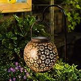 Osaloe Solarlaterne für Außen, IP65 wasserdichte Gartenlampe, LED-Dekoration Solarbeleuchtung, drahtlose Solarleuchten für Party, Hochzeit, Patio, Park, Rasen, Weihnachten