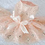 Lanceasy Hundekleider, gestickte Hundekleider Hochzeit Prinzessin-Kleid für Hunde Pet Rock Kleidung Supplies