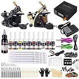 Solong Tattoo-Set 2 Tattoo Maschine 10 Tinten Netzteil Pedal Nadeln Griffe Tipps TK222