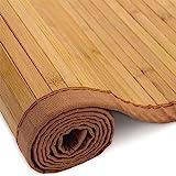 Homestyle4u 193, Bambusteppich Bambusmatte rutschfest Mit Bordüre, Braun, 200 x 300 cm