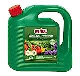 Substral Gartendünger Universal, Flüssigdünger für alle Blumen, Sträucher, Bäume, Beeren, Obst und Gemüse mit natürlichen Biostimulanzien, 4 Liter Kanister