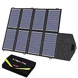 X-DRAGON Solar Ladegerät 40W 18V SunPower Faltbar Solar Panel Outdoor Ladegerät (5V USB + 18V DC) für Portable Generator, Car Battery, Laptop, iPhone, Huawei, 12V Auto Batterie, RV, Camping, Outdoor