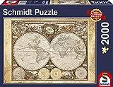 Schmidt Spiele 58178 - Historiche Weltkarte, 2000 Teile Puzzle