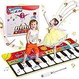 OMEW Piano Mat Tanzmatte Klaviermatte Musikmatte für Kinder 8 Instrumentensounds 5 Spielmodi 10 Klaviertasten für Mädchen Jungen 148x60cm