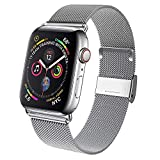 Waband Edelstahl Armband, Ersatzarmband Kompatibel mit Watch 38mm 40mm, Smartwatch Ersatzarmbänder mit Magnet Kompatibel mit Watch Series 5/4/3/2/1 Silber