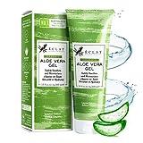 100% schnell einziehendes Aloe Vera Feuchtigkeits Gel - Natürliches Aloevera Gel für Gesicht und Haar mit Vitamin C - 100% Bio Aloe Vera Gel