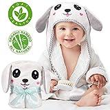 Kaome Baby Handtuch Kapuze Bio-Bambus Badetuch Kapuzenhandtuch Baby Großes weiches und super saugfähiges maschinenwaschbares Kleinkinder Badetücher mit niedlichen Ohren für Babybaden