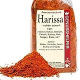 Harissa 100 Gramm fein geschrotet, orientalische Schärfe, ohne Zusatzstoffe & ohne Geschmacksverstärker - Bremer Gewürzhandel