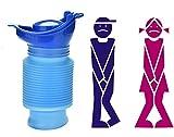 Notfall Wiederverwendbare Urinal Tragbare Schrumpfbare Persönliche Mobile Toilette Töpfchen Pee Flasche für Kinder Erwachsene Camping Auto Reise (750 ML)
