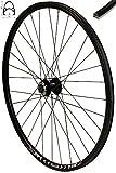 Redondo 28 Zoll Vorderrad Laufrad Fahrrad V-Profil Felge Schwarz 6 Loch Disc