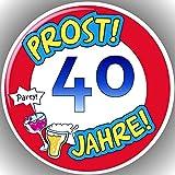 Fondant Tortenaufleger Tortenbild Geburtstag Zahl AMA 40