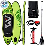 AM AQUA MARINA Stand Up Paddle Board Breeze 2020 aufblasbar im Set iSUP Dicke 9 Zoll Stand-Up Paddling SUP-Board 275 x 76 x 12 cm