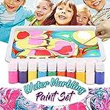 2019 Wasser marmorierung Malerei Sets, 6 Farben Wasser Marmorierung Papier Ebru Kunst Werkzeug mit A5 Tablett Kinder schwimmende Malerei Supplies Set künstlerische Kreativität Anbau-Tools ()
