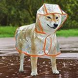 WELLXUNK Regenmantel für Hunde,Hunderegenmantel mit Kapuze,Hunde Regenmantel Wasserdicht,DREI Größen und Farben Optional Geeignet für Kleine, Mittlere und Große Hunde