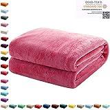Mixibaby Kuscheldecke Flauschige extra weich & warm Wohndecke Flanell Fleecedecke, Falten beständig/Anti-verfärben als Sofadecke oder Bettüberwurf, Maße Decke Sarah:150 cm x 200 cm, Farbe:Pink