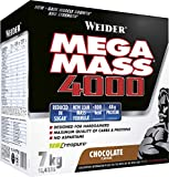 Weider Mega Mass 4000 Weight Gainer Shake mit Protein & Kreatin, Schoko, Muskelaufbau, 7kg