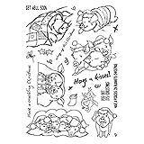 ECMQS Weihnachten Schwein DIY Transparente Briefmarke, Silikon Stempel Set, Clear Stamps, Schneiden Schablonen, Bastelei Scrapbooking-Werkzeug
