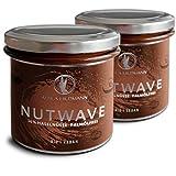 Nutwave 2er Pack Premium Nuss-Nougat-Creme (bio, vegan), 2 x 350 g im Glas, 700 g