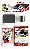 SONAX Scheinwerfer AufbereitungsSet (85 ml) reinigt und poliert vermattete und vergilbte Scheinwerfer aus Kunststoff - versiegelt und schützt | Art-Nr. 04059410