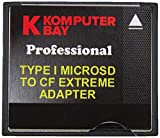 Komputerbay MicroSD to Compact Flash Adapter High Speed ??Micro SD to Compact Flash Type I CF