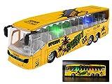 YIJIAOYUN 19 cm gelbe Legierung Diecast Toy Die-Cast Fahrzeuge Bus Mold mit Lichtern und Musik / 1:50 Maßstab Pull-Back Coach Bus Spielzeug