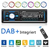 Autoradio Bluetooth Freisprecheinrichtung DAB+/RDS/MP3/FM/AM/SD/AUX/2 USB Funktion mit Fernbedienung