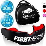 weletix Profi Mundschutz | + Box + max. O₂ + BPA freier Zahnschutz | Sicherer Halt im Kampfsport | Boxen, MMA, Krav MAGA (hot red)