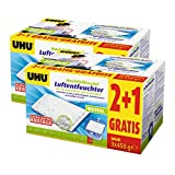 6x UHU 47135 Luftentfeuchter Nachfüllbeutel 450g (Promopack 2 plus 1)