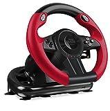 Speedlink TRAILBLAZER Racing Wheel - Multiplattform Lenkrad für Playstation 3 + 4, Xbox One, PC (Minimale Schaltzeiten - Status-LEDs - dosierbare Pedale) für Gaming/Konsole/PC/Notebook/Laptop, schwarz