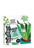 Undergreen Green Shot, Kur für Grünpflanzen und Palmen, Aufbaukur, 5 Ampullen je 30 ml, Transparent