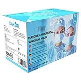 KAROFI - Medizinisch-chirurgische Masken vom TYP IIR (II R, 2R), geprüft und zugelassen, BFE  99%, 4 Lagen, CE-Zertifiziert nach EN14683 : 2019, Box 50 Stück