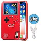 Gameboy Hülle für iPhone 12 Mini, Retro Schutzhülle Selbstbetrieben Hülle mit 36 kleinen Spielen, Farbdisplay Gameboy Telefonhülle, Handheld Video Game Console Case für iPhone (Rot, iPhone 12 Mini)