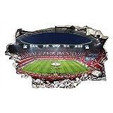 3D Fußball Wandtattoo Fussball Tapete Fussballstadion FCB Bayern München Klebebilder für die Wand Dekoration 65 x 40 cm Wall-Art
