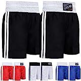 Farabi Pro Boxing Shorts for Boxing Training Punching, Sparring Fitness Gym Clothing Fairtex jiu Jitsu MMA Muay Thai Kickboxing Equipment Trunks (Black, Medium)