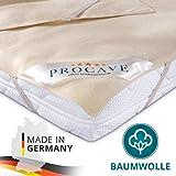 PROCAVE Matratzen-Auflage aus 100% Baumwolle, Natur-Matratzenschoner atmungsaktiv, hochwertige Moltonauflage als Matratzenschutz, Premium Qualität Made in Germany 140x220 cm