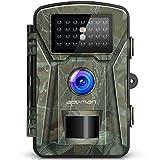 APEMAN Wildkamera 16MP 1080P mit Infrarot-Nachtsicht bis zu 65 Fuß/20 m IP66 Spray Wasserdicht für Outdoor-Natur, Garten, Haussicherheitsüberwachung Grün