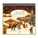Lindt Weihnachtsmarkt Mini-Tisch-Adventskalender (24 verschiedene Mini Schokoladen-Kugeln) 115g