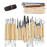 Ballery Keramik Werkzeug, 30pcs Polymer Clay Werkzeug, die Skulptur-Schnitzen-Werkzeug-Satz Geeignet für Geschnitzt Bildende Kunst Kunsthandwerk usw