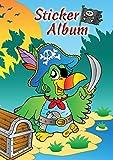 AVERY Zweckform 57799 - Stickeralbum Pirat, Stickerbuch leer, Album zum Sammeln, Sticker Sammelalbum, Silikonpapier blanko, Jungen Geschenke, A5, 16 Seiten 1 Album für Jungen